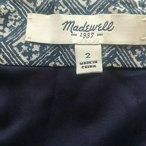 Madewell Skirts - Madewell Size 2 Silk Navy & White Mini Skirt